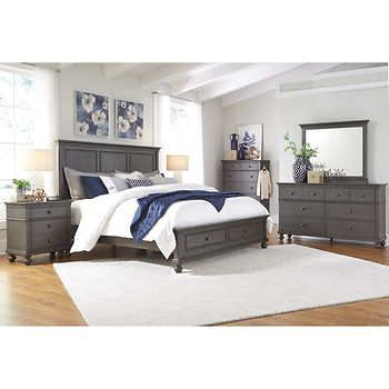 Corona 48piece Queen Storage Bedroom Set Bedroomsets Bedroom Sets Gorgeous Storage In Bedrooms Set