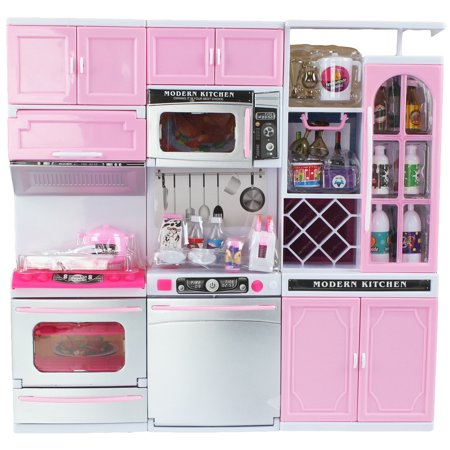 Battery Operated 12 Tall Toy Luxury Contemporary Kitchen Playset 11 12 Tall Dolls Sounds Parts Light Up Perfect Doll House Accessory Walmart Com Luxury Contemporary Kitchen Dollhouse Furniture Kits Contemporary Kitchen