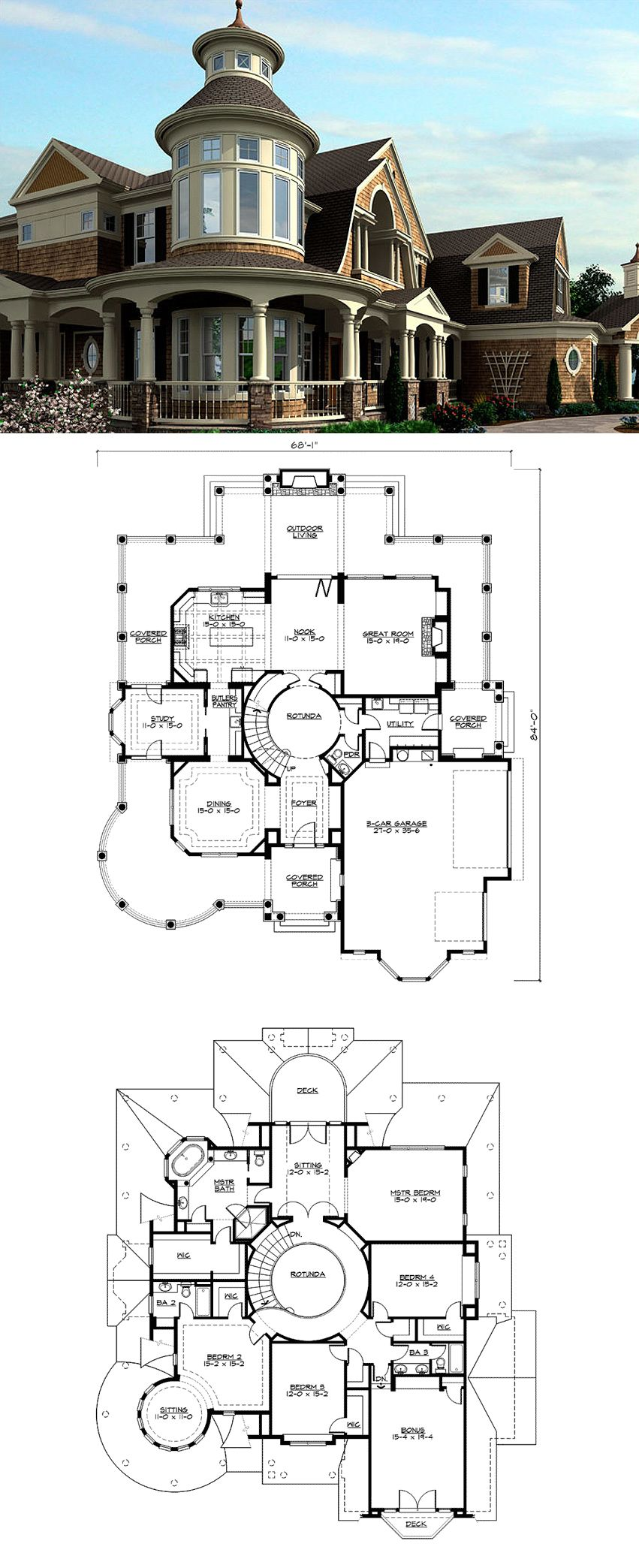 Outstanding Shingle Style Home Plan Plan 23393JD 4265