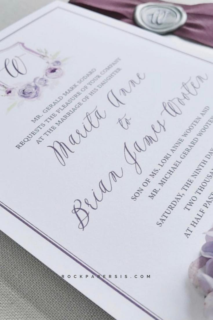 Custom created monogram wedding invitations | Custom monogram ...