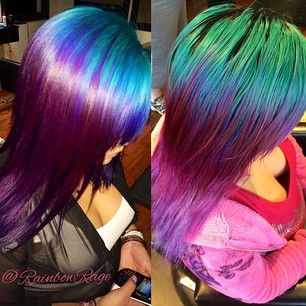 #teal hair #purple hair #pastel hair