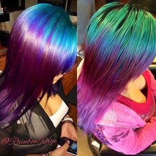 #teal hair #purple hair #pastel hair