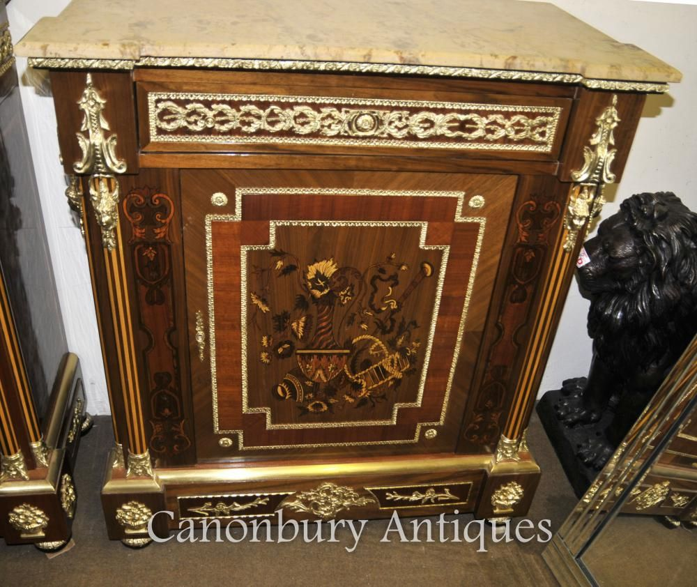 French Empire Cabinet Credenza Marquetry Inlay | Cabinets ...