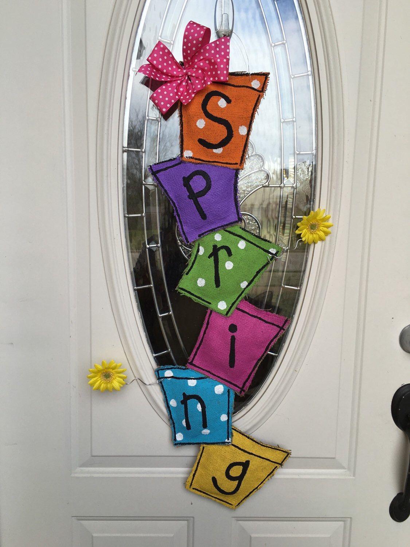 A personal favorite from my Etsy shop https://www.etsy.com/listing/286699139/spring-door-hanger-flower-pot-door