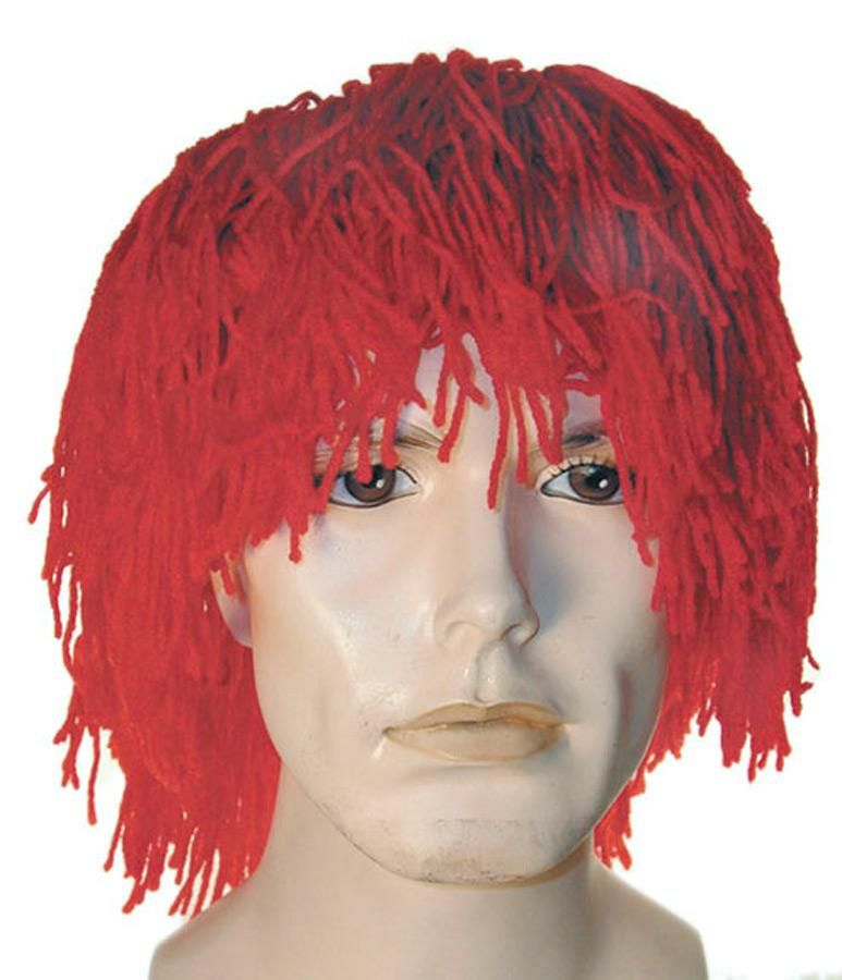 Lacey Deluxe Silly Boy Yellow Bald Cap Clown Wig NEW Professional Quality