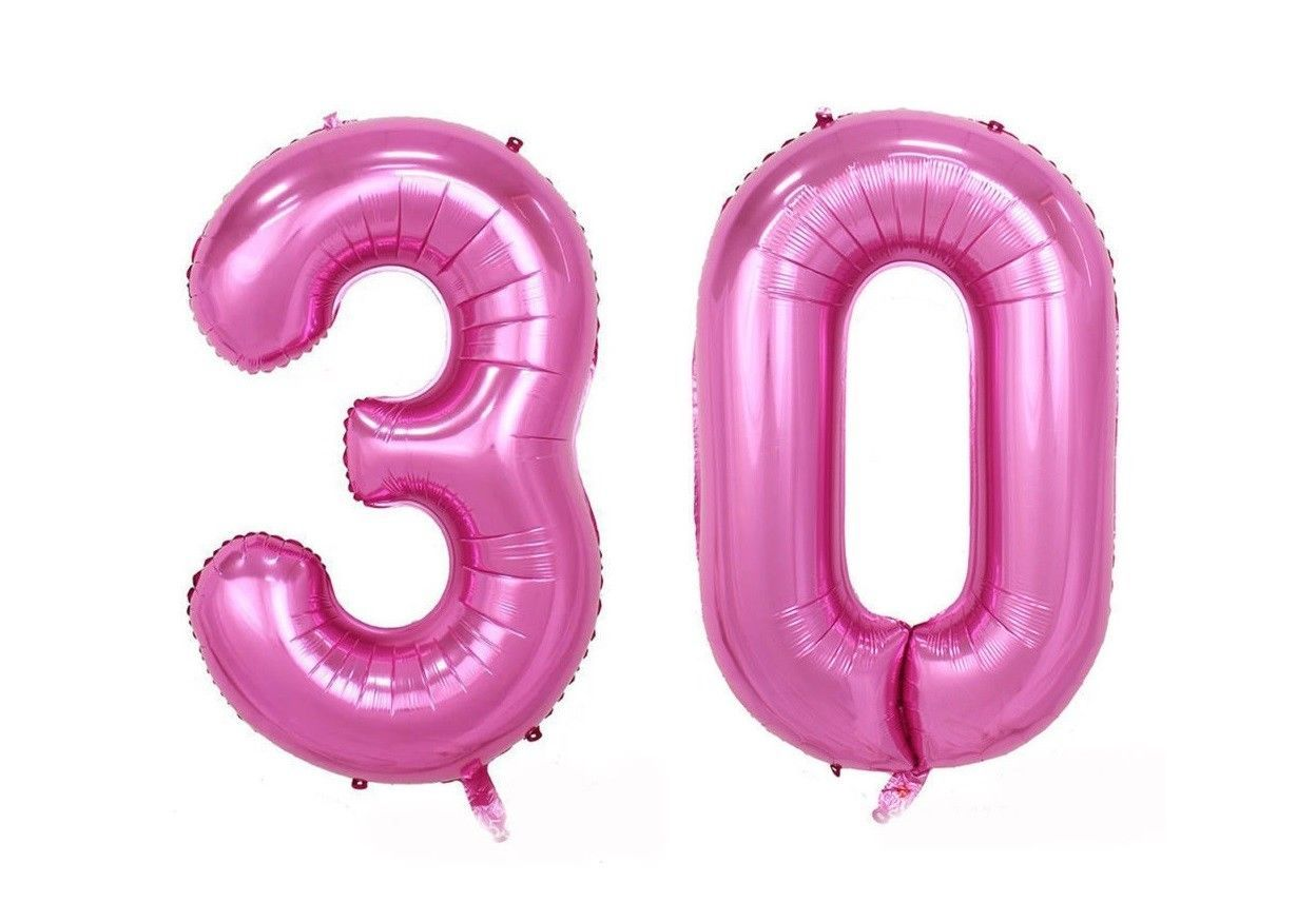 Huge 40 30 Pink Foil Number Balloons Photo Shoot 30Th Birthday Float Helium Usa