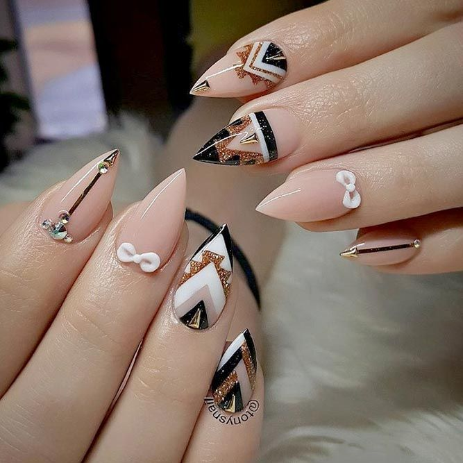 Best Designs For Short Stiletto Nails That Will Catch Your Eye See More Https