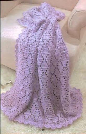 Baby Afghan free crochet pattern | Afghans | Pinterest | Decken ...