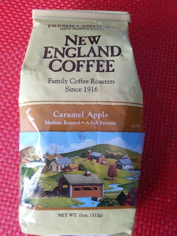 1 Bag of New England Ground Coffee Caramel Apple Flavor
