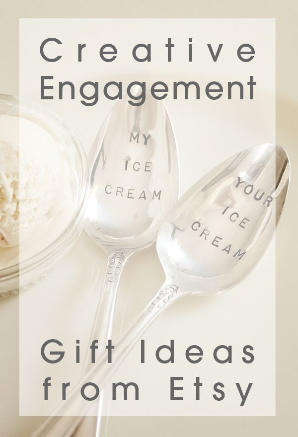 Creative wedding engagement gift ideas from etsy engagement 16 creative wedding engagement gift ideas from etsy love these adorable finds negle Choice Image