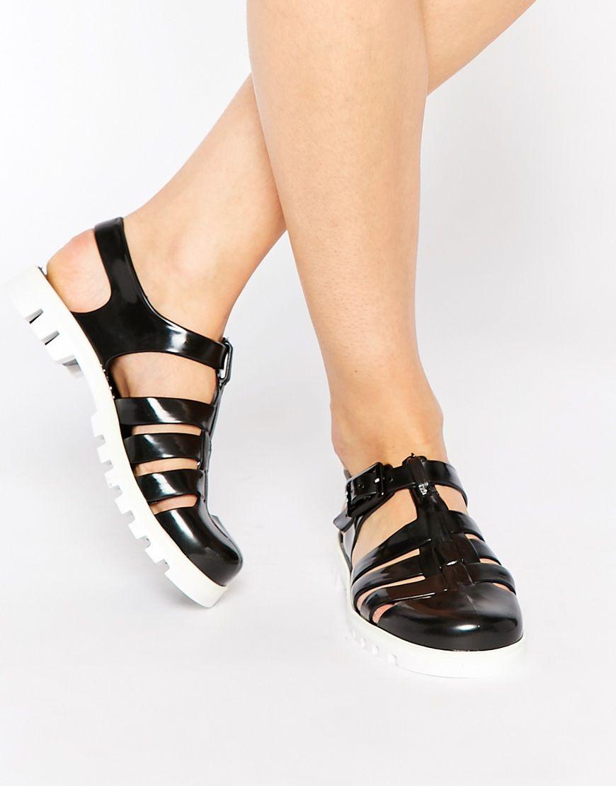 Black juju sandals - Juju Maxi Jelly Flat Sandals