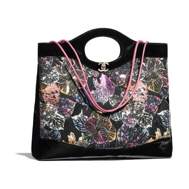 906dc6afc801 CHANEL 31 Large Shopping Bag - Black - Patent Calfskin
