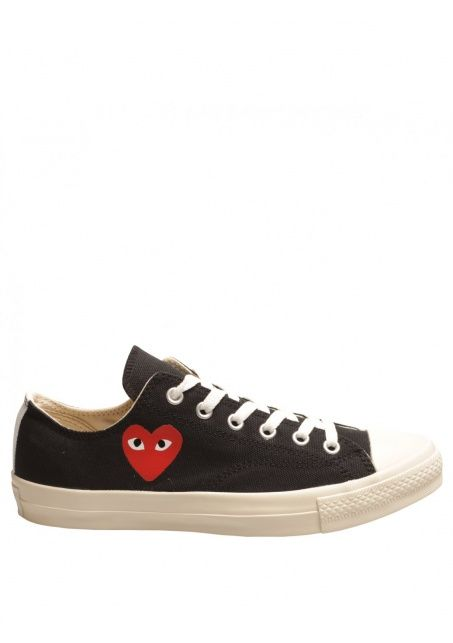 09f1ae83e49e Comme Des Garcons x Converse - Womens PLAY Emblem Plimsoll Black. I ve been  looking for this sneakers for awhile now