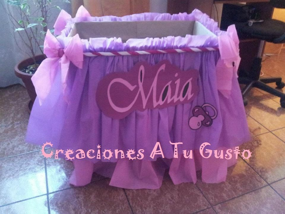 Como decorar una caja para baby shower ni a c wall decal - Decorar cajas de regalo ...