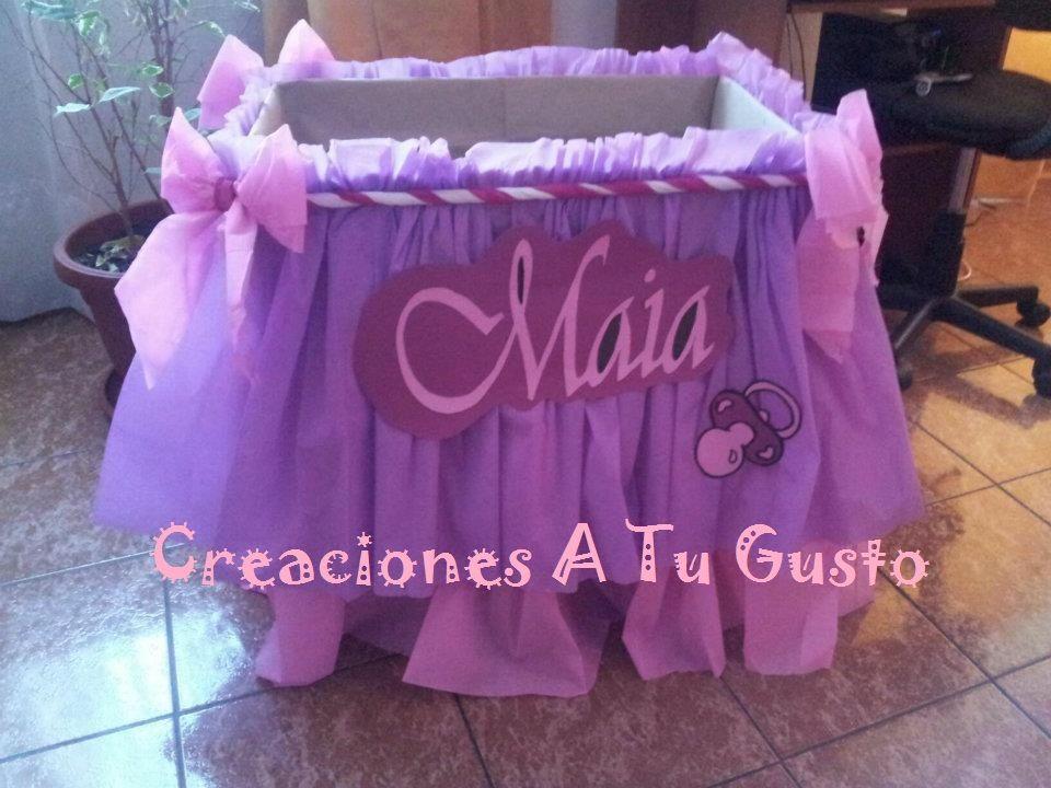 Como decorar una caja para baby shower ni a c wall decal - Decorar cajas de regalo ...