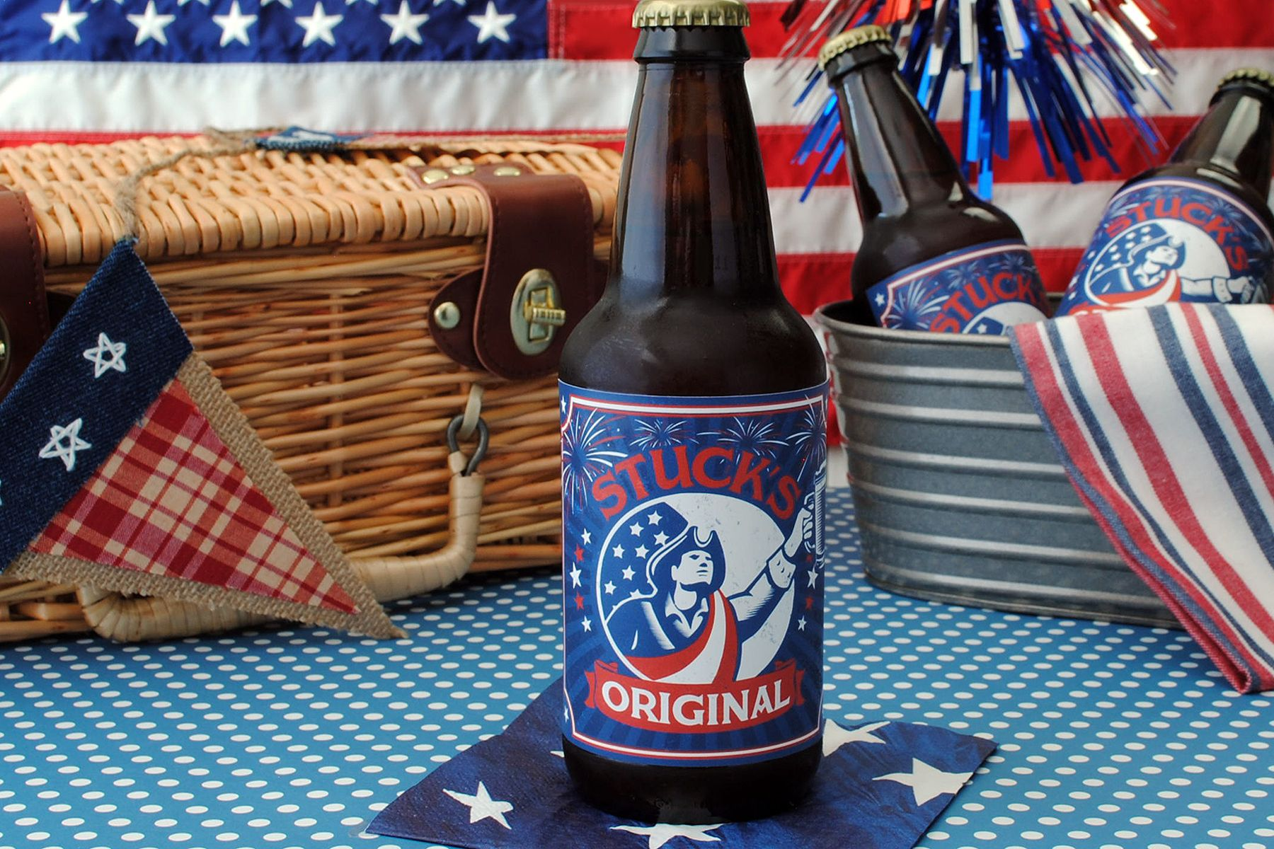 Beer labels for your home brew 4th of july batch use one