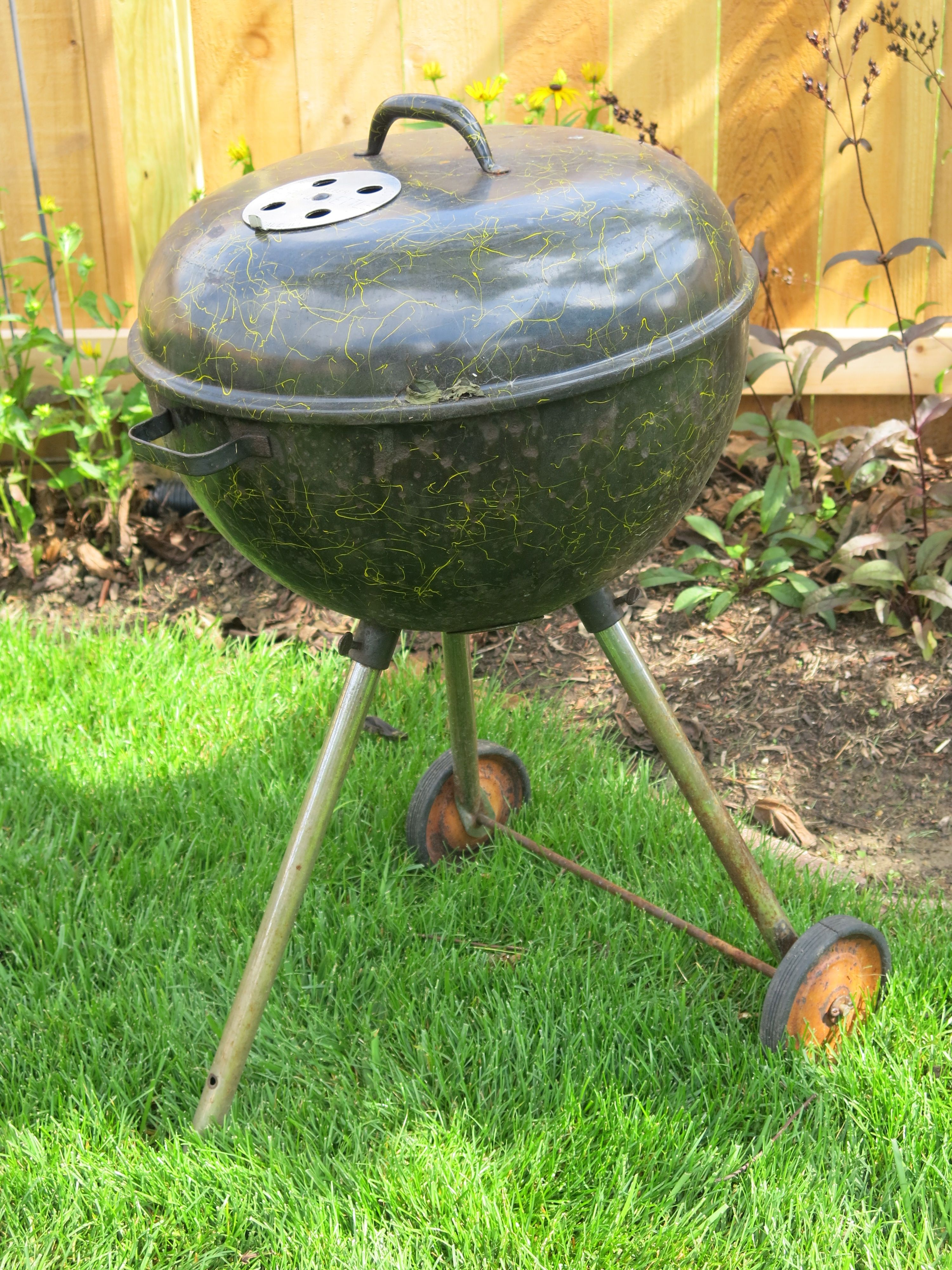 how to clean weber kettle