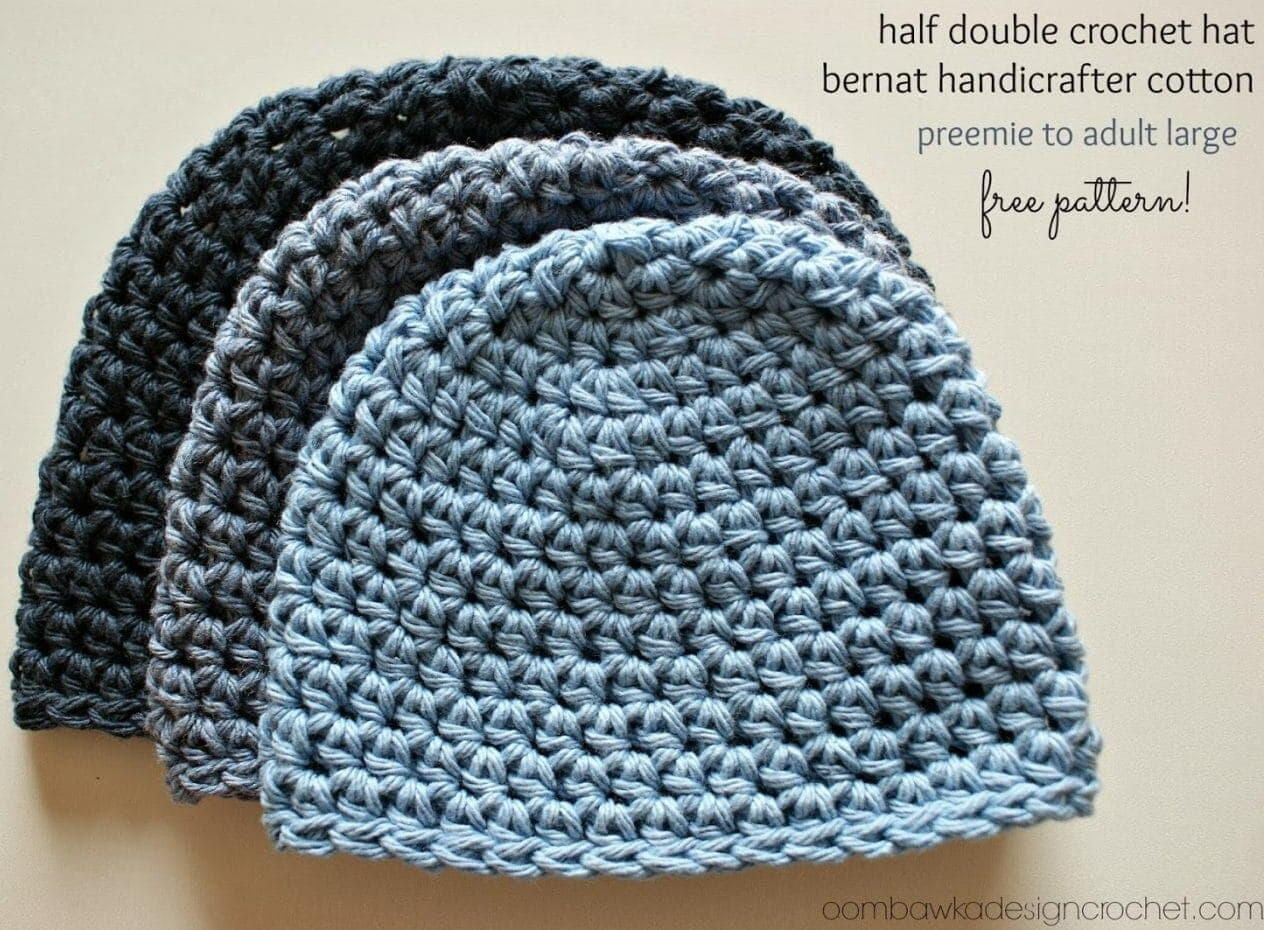 Half Double Crochet Hat Pattern Crochet With Cotton Yarn Crochet Hats Free Pattern Cotton Hat Pattern