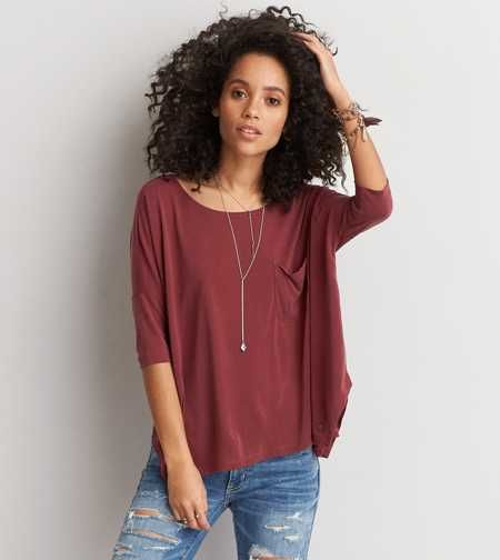 AEO Soft & Sexy Draped Pocket T-Shirt - Buy 2 Get 1 Free