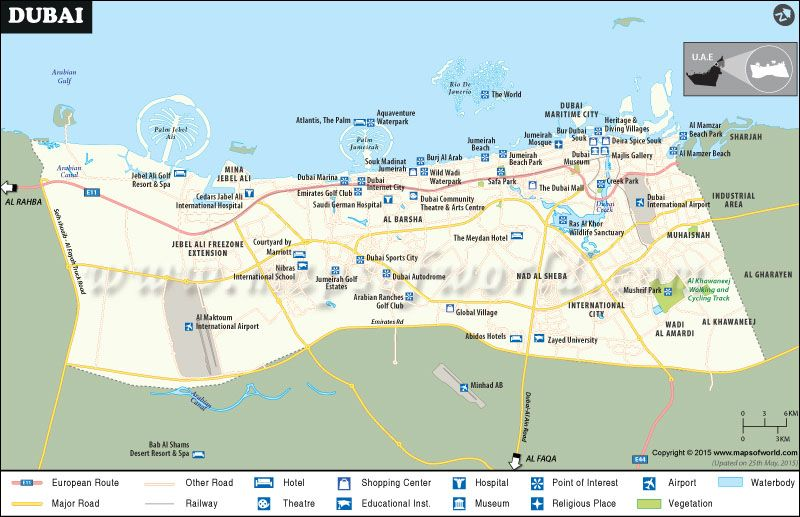 Dubai City #Map | World Cities and their maps | Pinterest | Dubai ...
