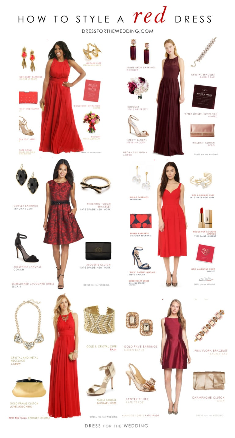 dress Red accessories - How to Accessorize a Red Dress  Dress for
