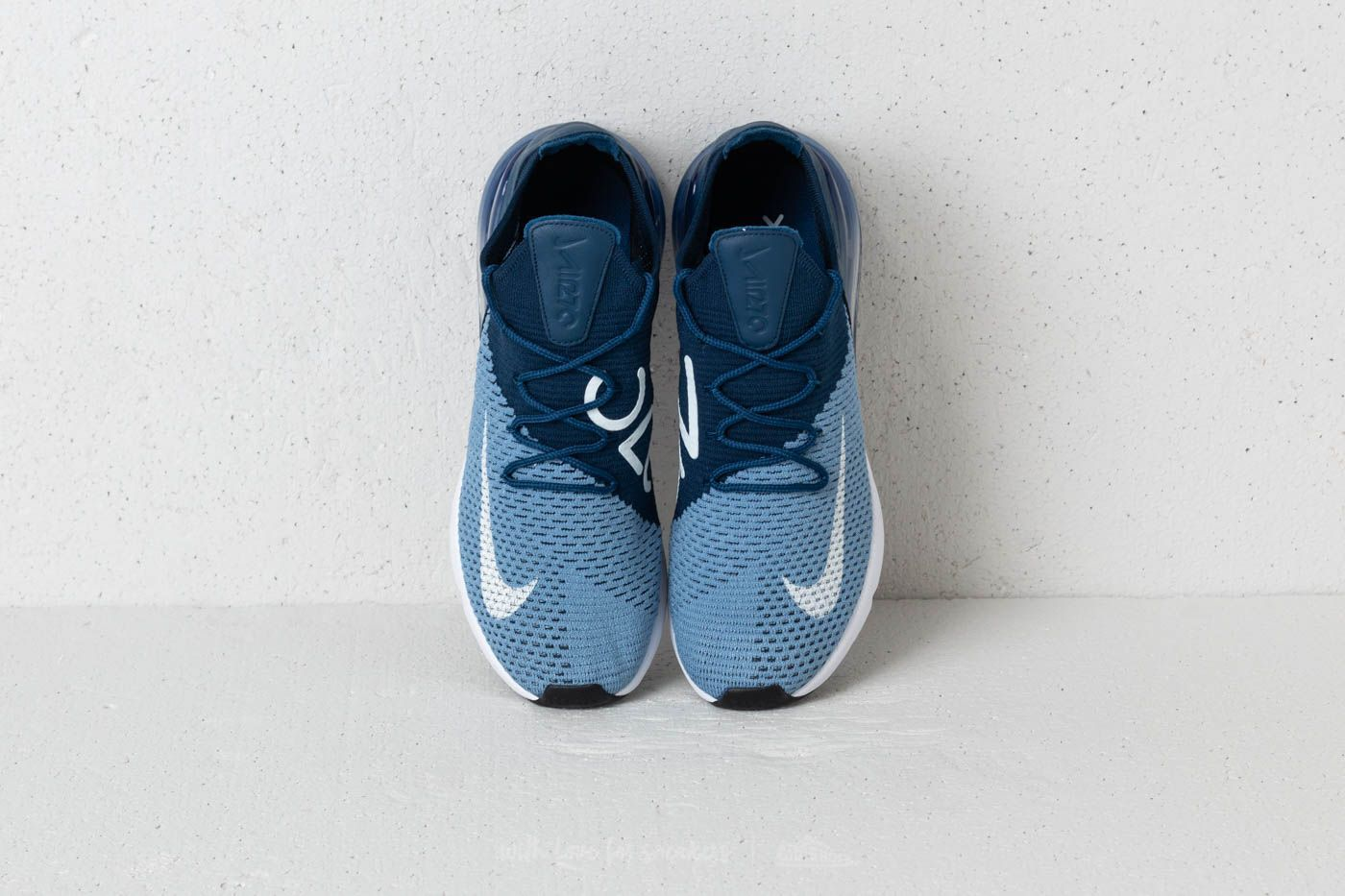 on sale 912e4 40c96 Nike Air Max 270 Flyknit   Work Blue  White-Brave Blue   169€  airmax  nike   running  blue  sneakers