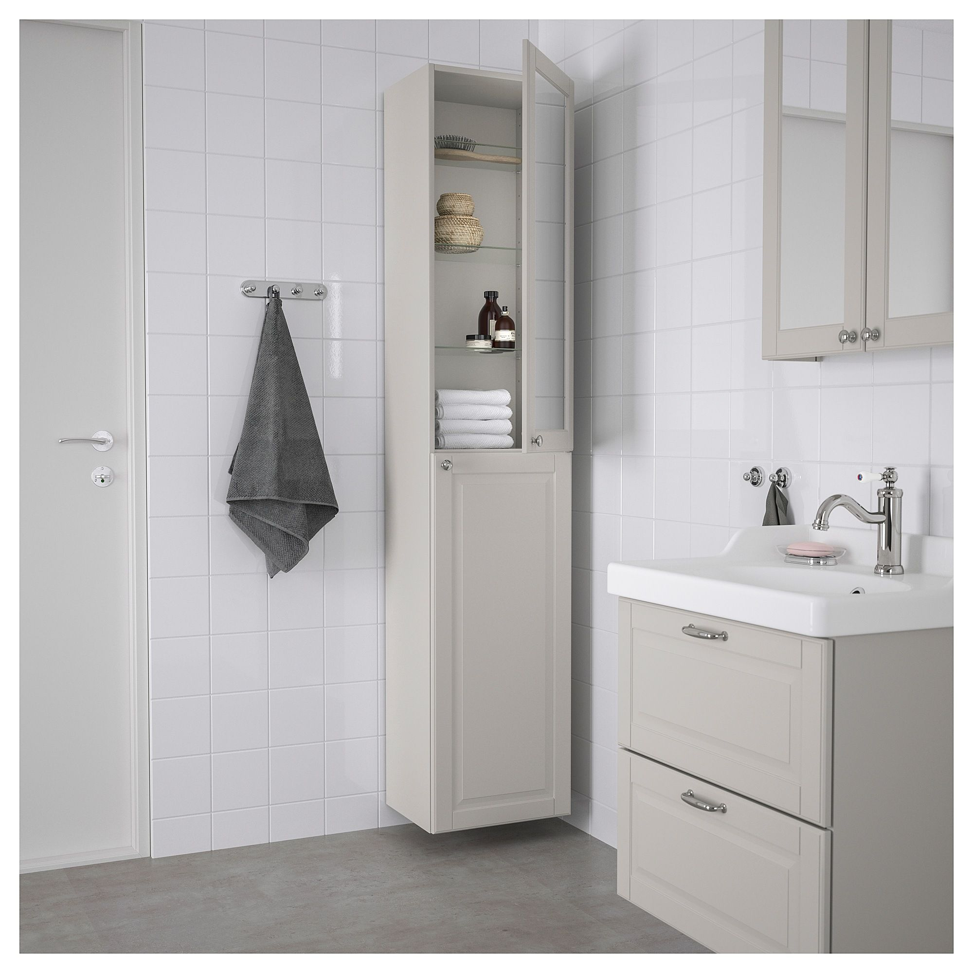 Godmorgon High Cabinet Kasjon Light Gray 15 3 4x12 5 8x75 5 8