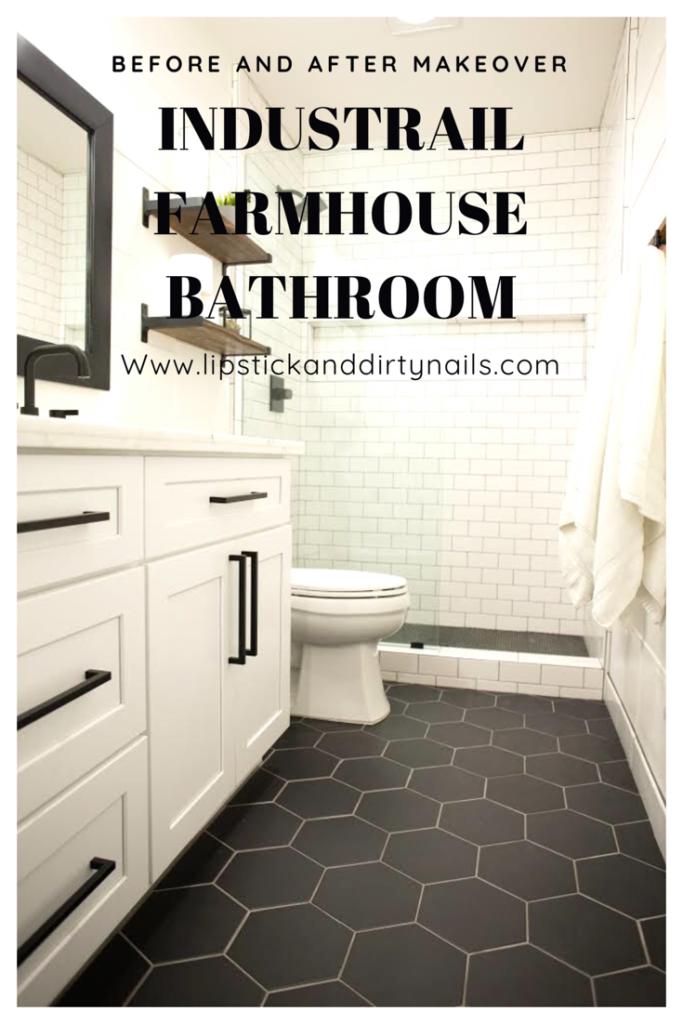 Industrial Farmhouse Bathroom #lipstickanddirtynails #industrialfarmhouse