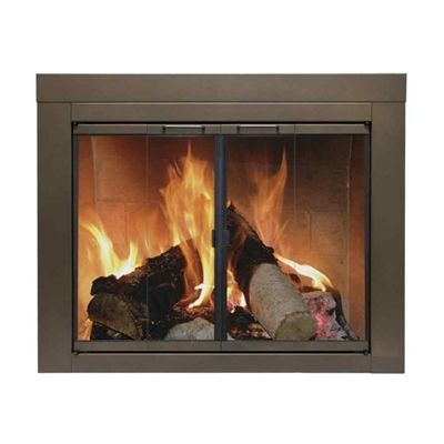 Pleasant Hearth Bronze Small Fireplace Doors Fireplaces Wood