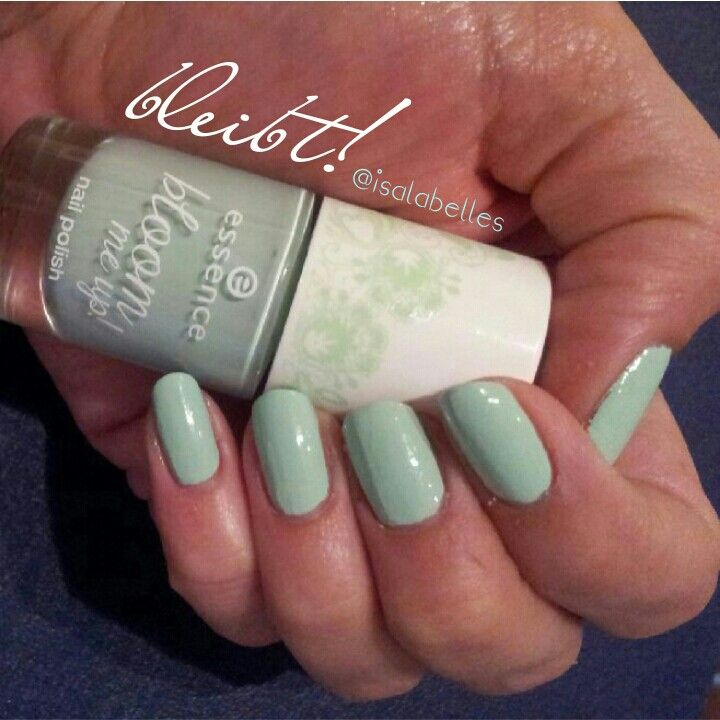 'blow my mint' by essence nailpolish stays in my collection