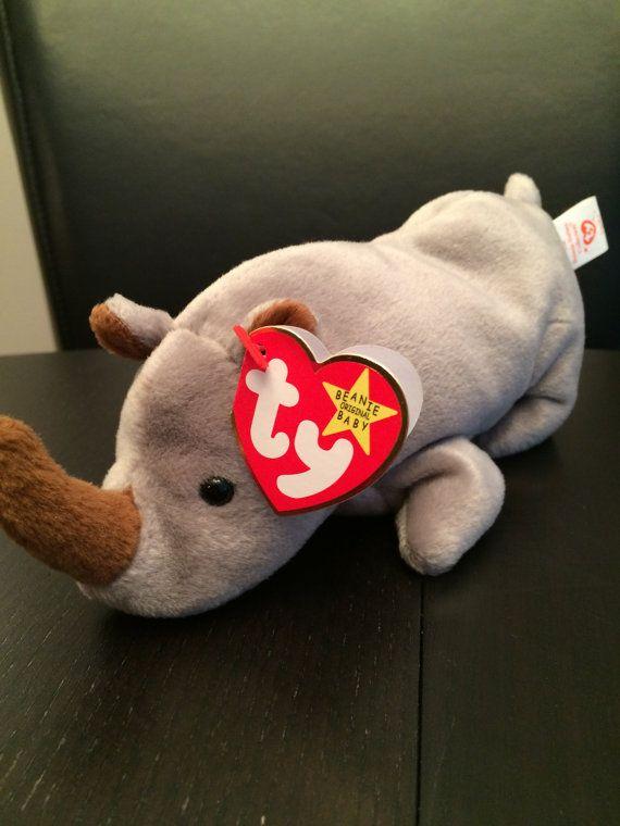 28f6dd09339 RARE TY Spike the Rhino Beanie Baby Original OG by KatiesBeaniesTY ...