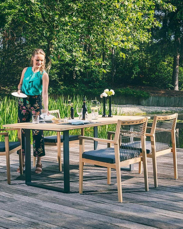 Apple Bee La Croix Gartensessel Teak Rope Beewett Teak Schwarz In 2021 Gartensessel Teak Gartenmobel Gartenmobel