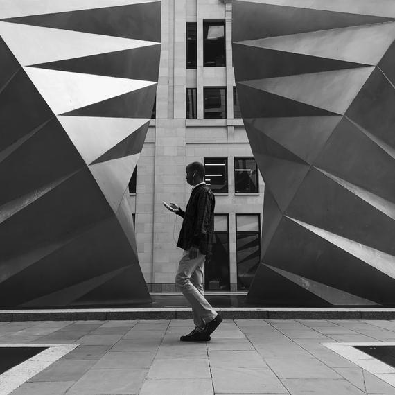 Urban Street Photography London Photography Symmetry Print Geometric Print Chrome Print Metallic Wall Art St Pauls London England  Urban Street Photography London Photogr...