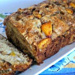 Peach Walnut Loaf. Could be dessert or breakfast.
