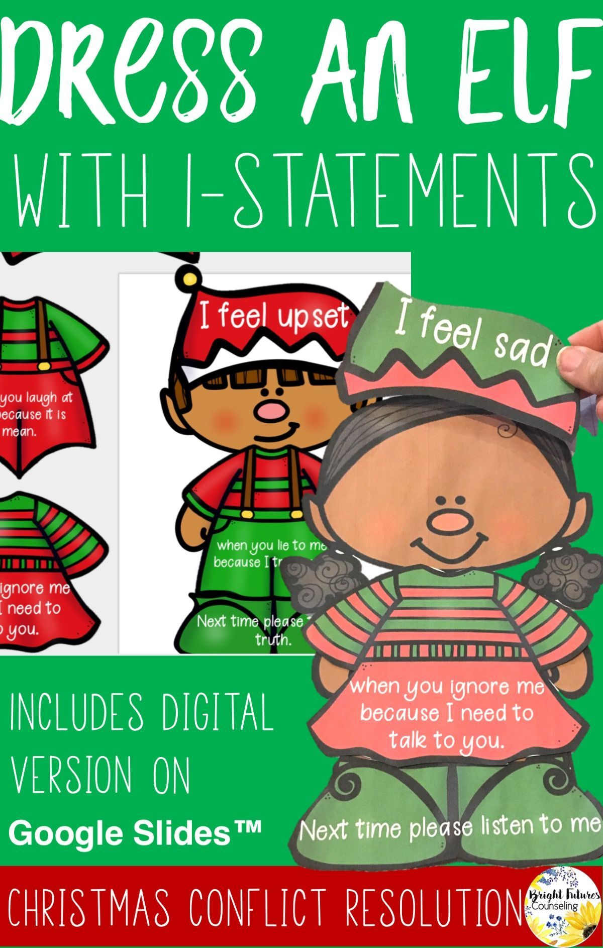 Conflict Resolution Christmas Activity Dress An Elf With I