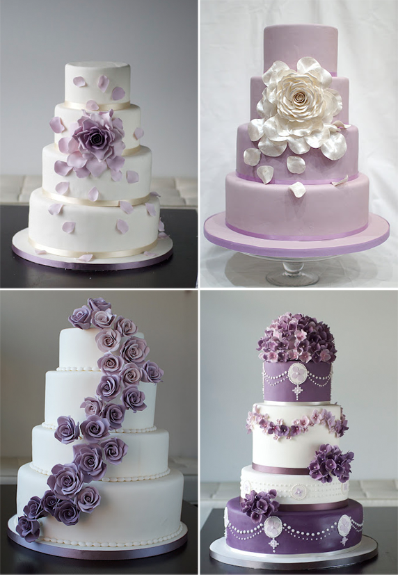 Beautiful Purple Wedding Cakes