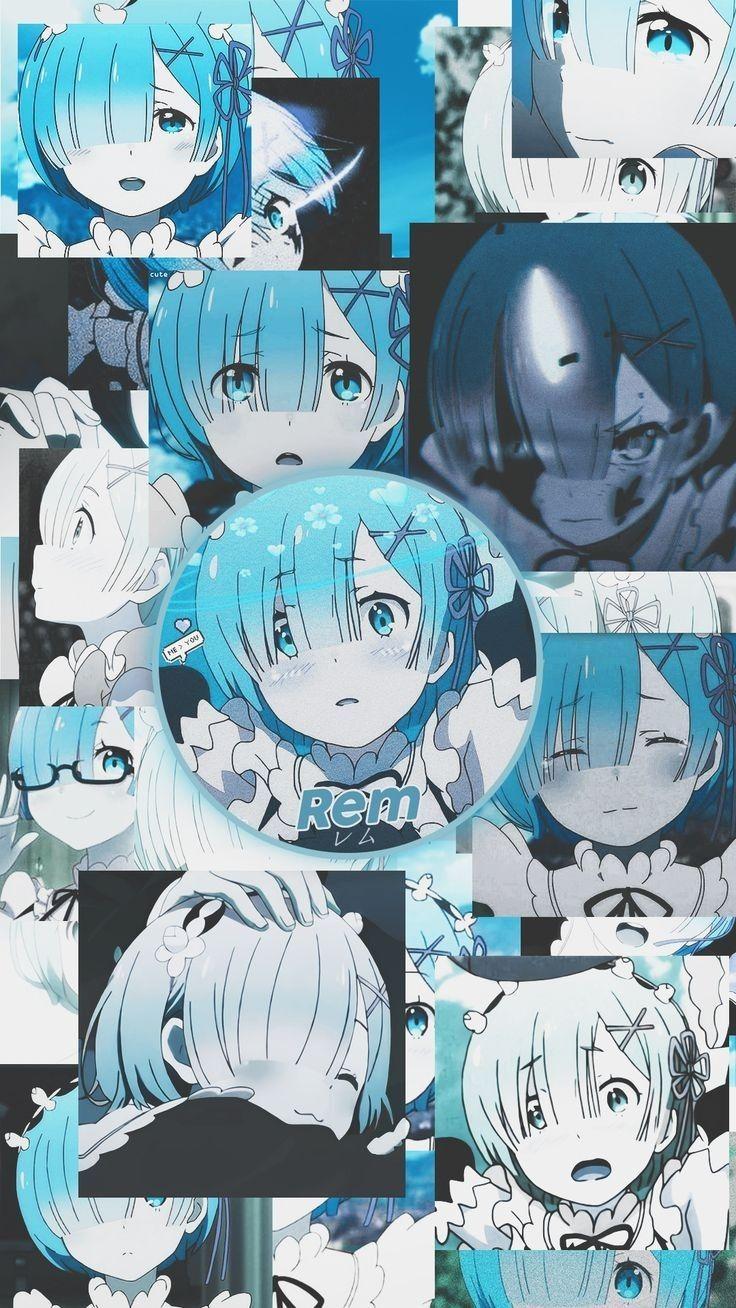 Rem!! #anime #wallpaper #rezero #girl #blue #tela #fundo #bloqueio #garota #demon #beauty #fofa