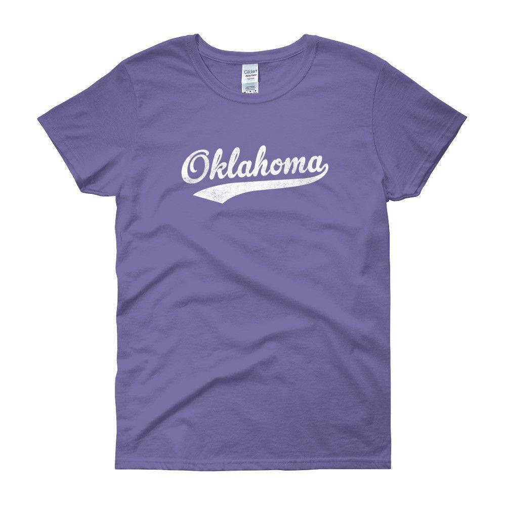 Vintage Oklahoma OK Women's T-Shirt with Script Tail Design