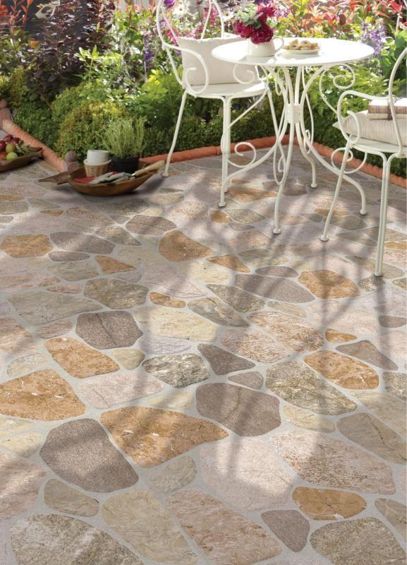 Piedra rio escaleras y hierro forjado pinterest for Ceramicas para pisos exteriores precios