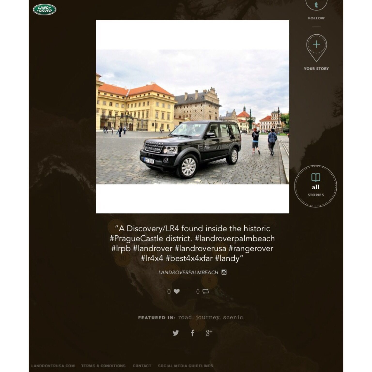 Land Rover Palm Beach post gets featured on Land Rover's