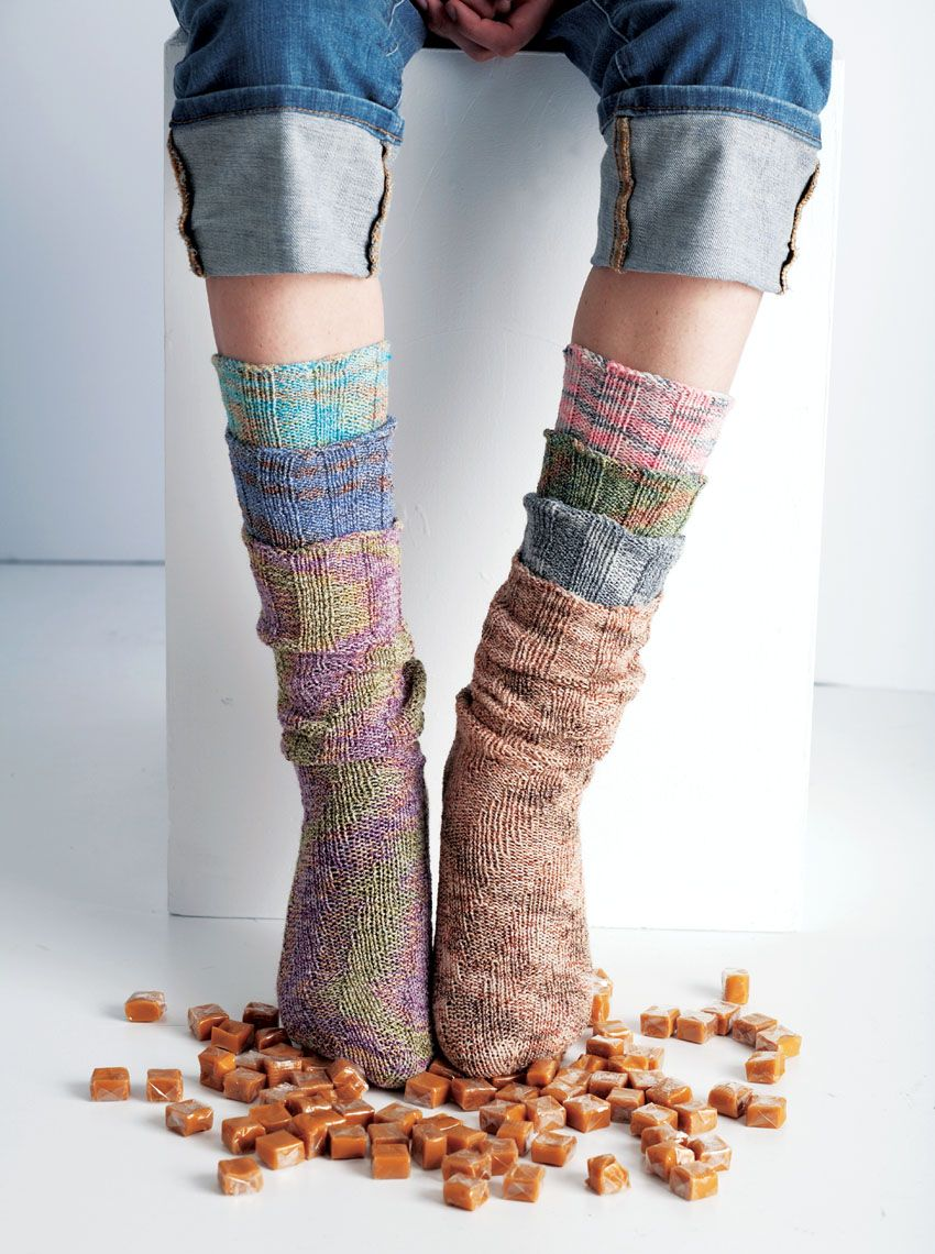 Free Knitting Pattern For Kroy Socks : Patons  Kroy Socks Spiral Socks #knit #pattern Moore ...
