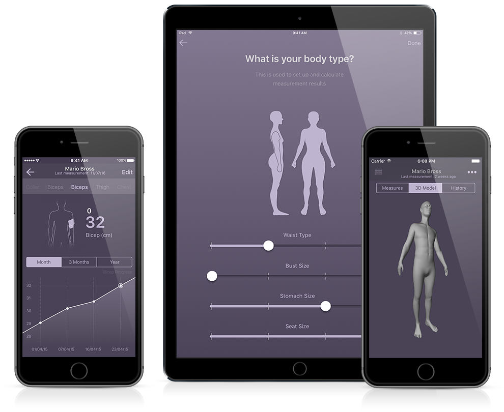 size stream body measurement and body measurement tracking app with 3d avatar generation