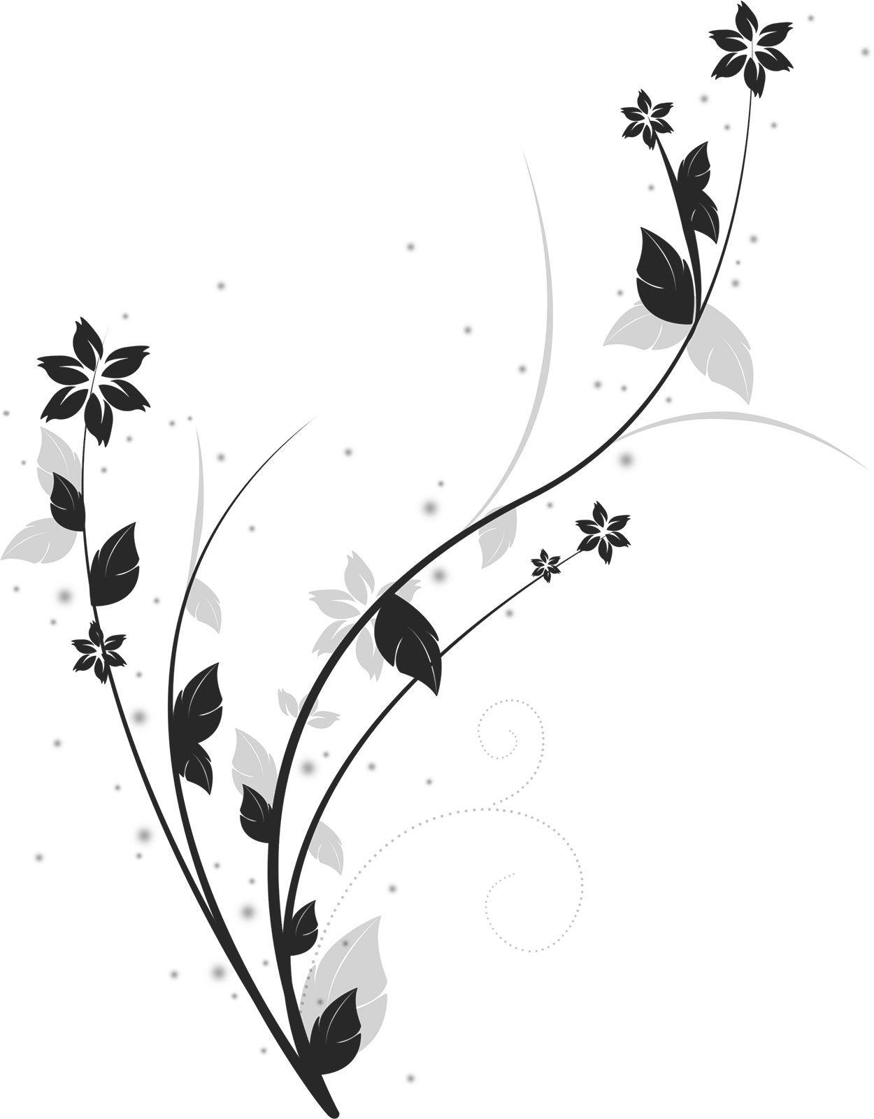 可愛い花のイラスト 白黒茎葉s字 Gorros Bufandas Imaginacion