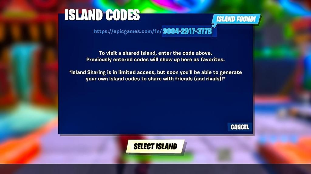 How To Enter Island Codes Within Fortnite Creative Mode Guide L2pbomb Fortnite Coding Island