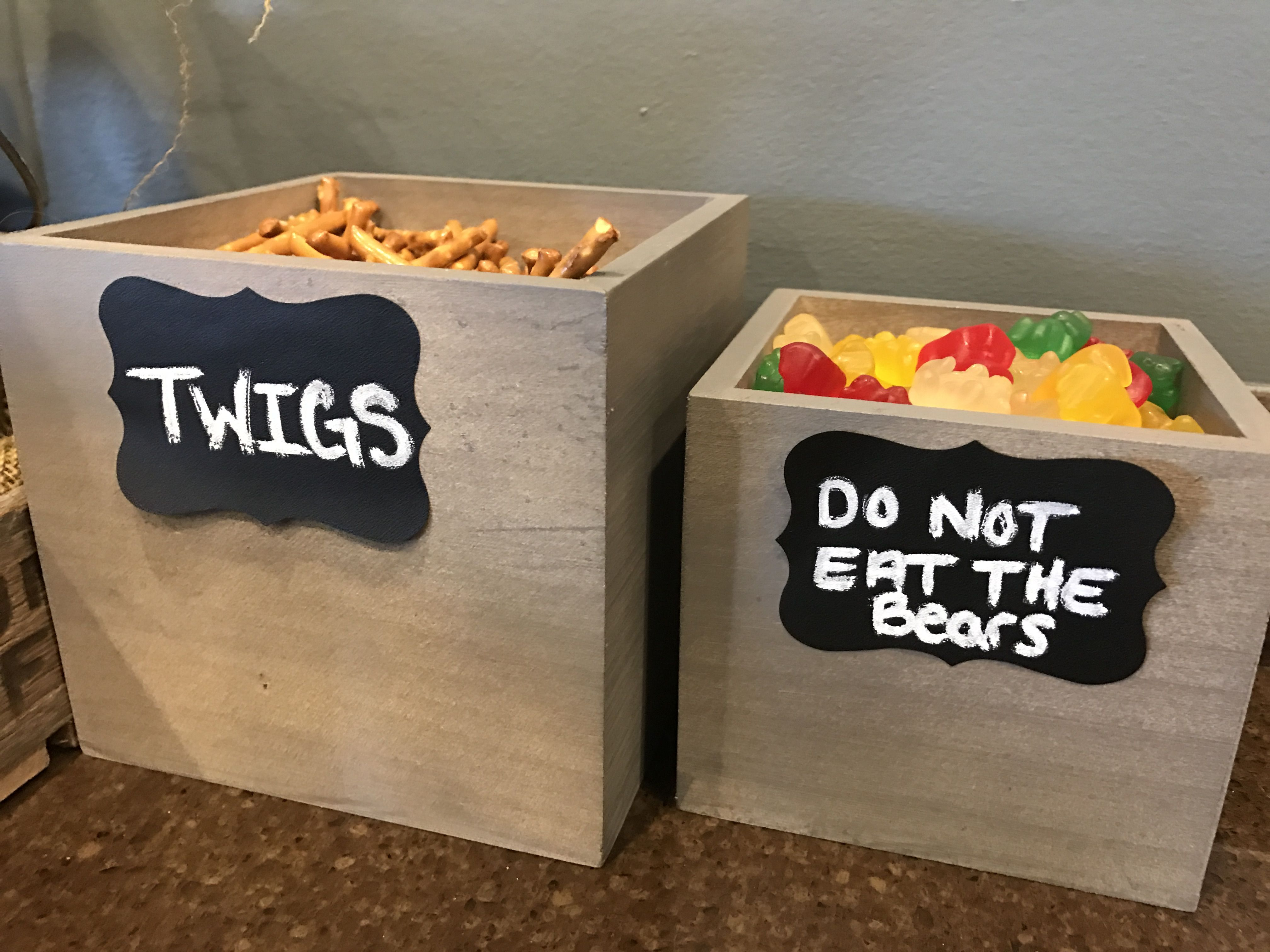 Gummy Bears And Pretzels, Woodland Theme Baby Shower