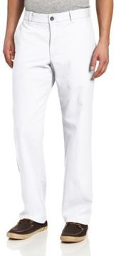 $58, White Chinos: Izod Saltwater Straight Fit Chino Pant. Sold by Amazon.com. Click for more info: https://lookastic.com/men/shop_items/1011/redirect