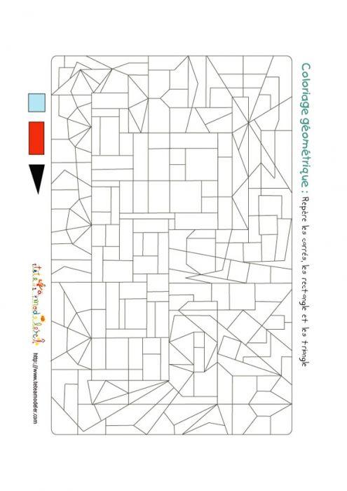 Jeu de coloriage formes g om triques v hicule n 2 - Coloriage des formes geometriques ...