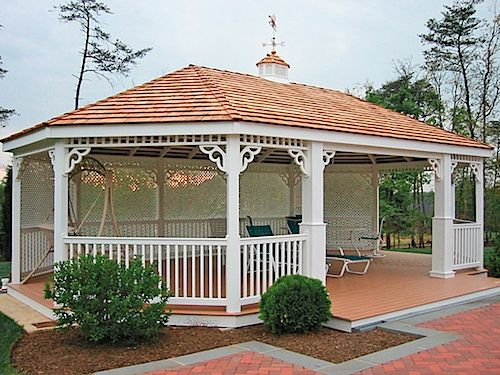 National Metal Industries 20x30 Large Oval Gazebo Country Style