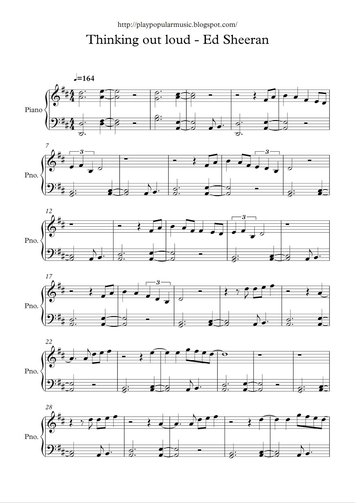 Free sheet music: Ed Sheeran - Thinking out loud.pdf My ...