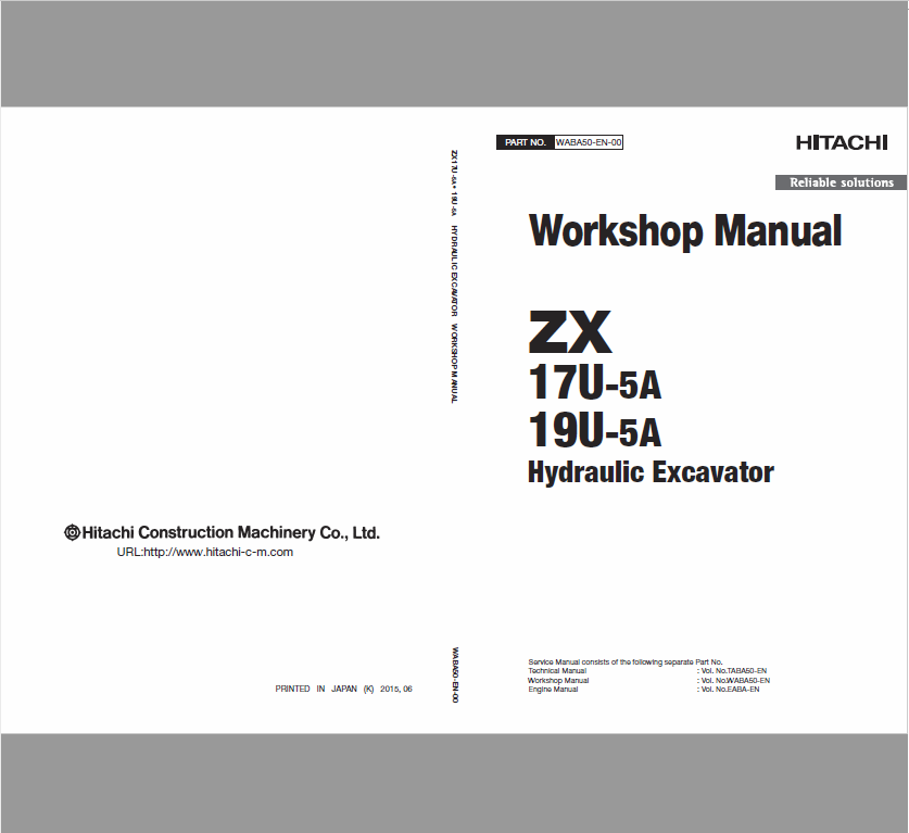 Hitachi Zx17u 5a And Zx19u 5a Excavator Service Manual Hitachi Excavator Electrical Circuit Diagram